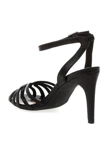 Vero Moda Vero Moda Cassia Önü Açık Bilekten Bağlamalı Topuklu Sandalet 10214779 Siyah